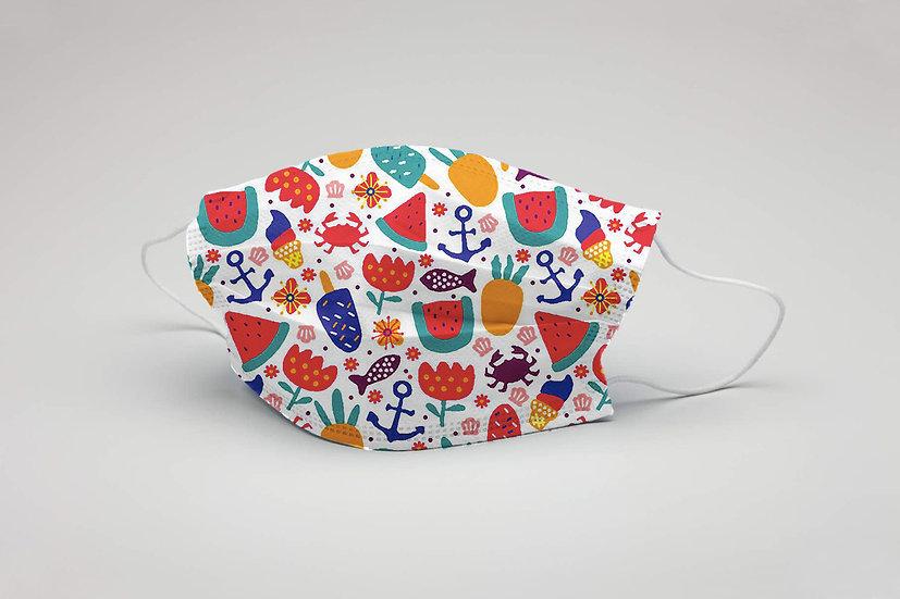 Mascarillas Infantiles Reutilizables PACK 2 Fruta