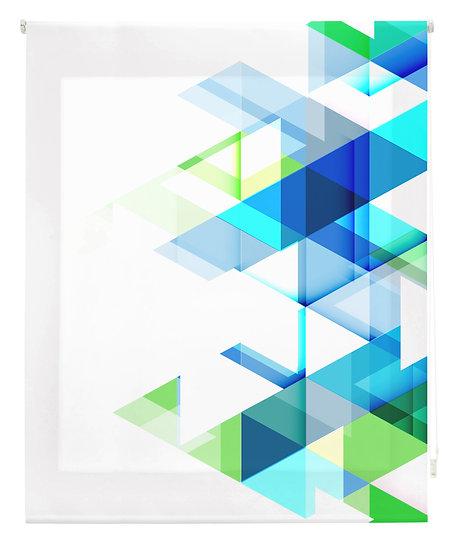 Estor Digital Diseño Geométrico Azules