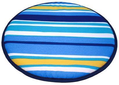 Cojín silla Redondo Estampado Rayas Azul