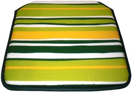 Cojín silla Estampado Rayas Verde