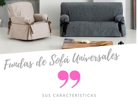 Fundas de sofá universales o de lazos