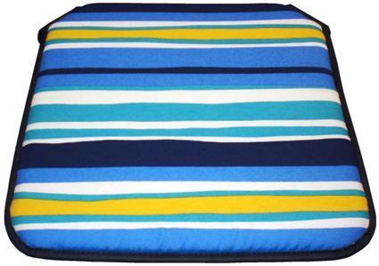 Cojín silla Estampado Rayas Azul