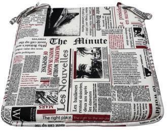 Cojín silla Estampado Periódico