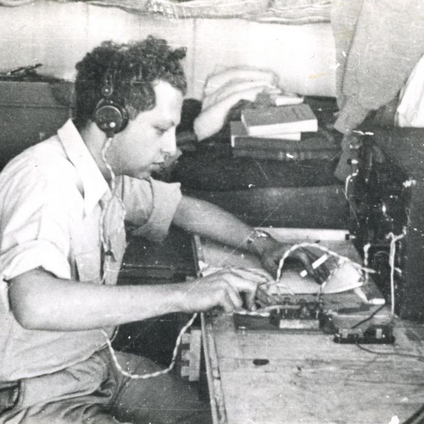 קרוכמל על סיפון 'הזקן' 1949