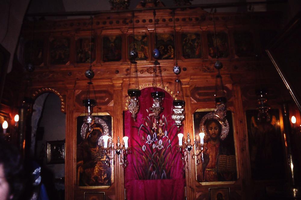 איקונוסטאזיס במנזר אבטימיוס