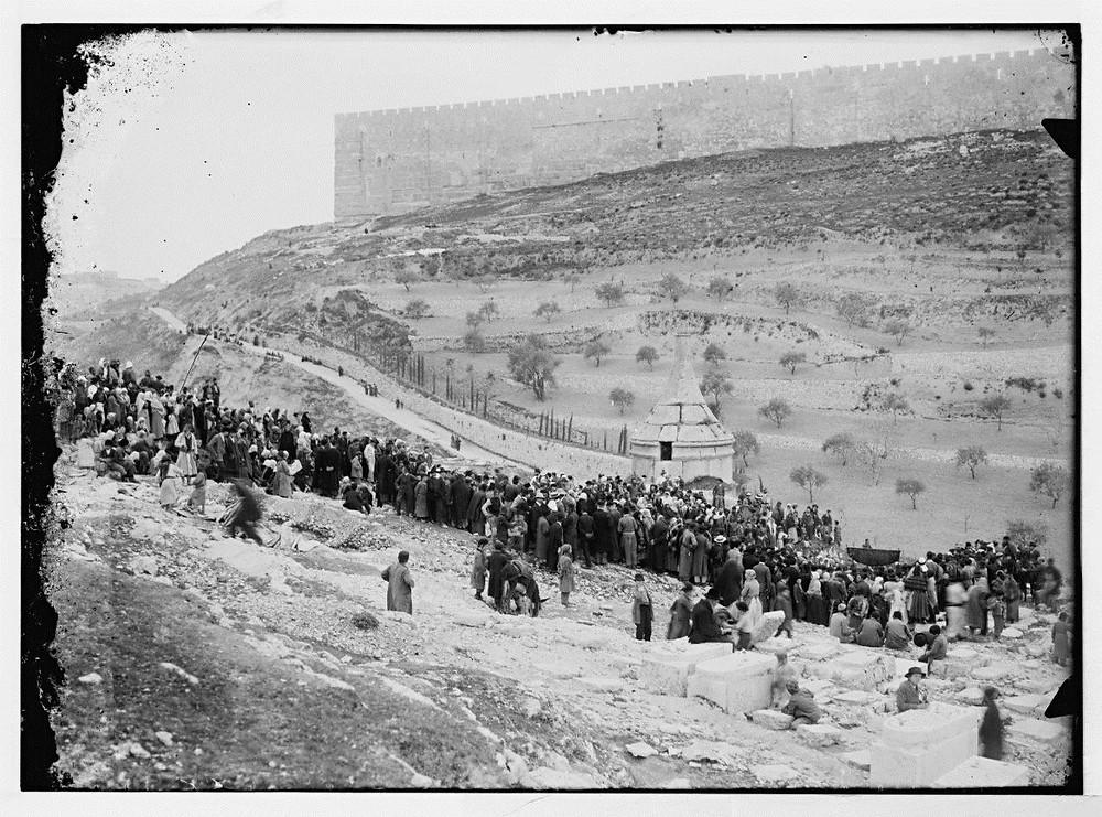 קהל רב נאסף לחתונה שחורה בבית הקברות בהר הזיתים