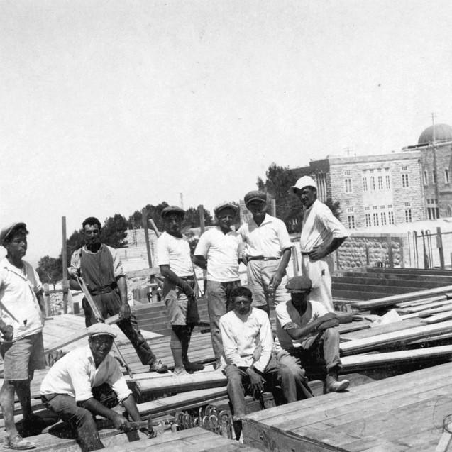 בנית בית הספרים הלאומי, האוניברסיטה העבר
