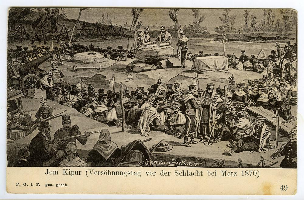 ציור של יונקר: יום כיפור בשדה הקרב. מאוסף שלום צבר