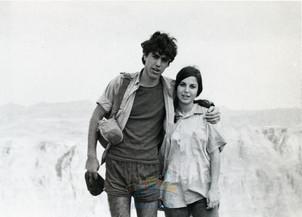 גוני ורונית גולדברג בטיול 1972