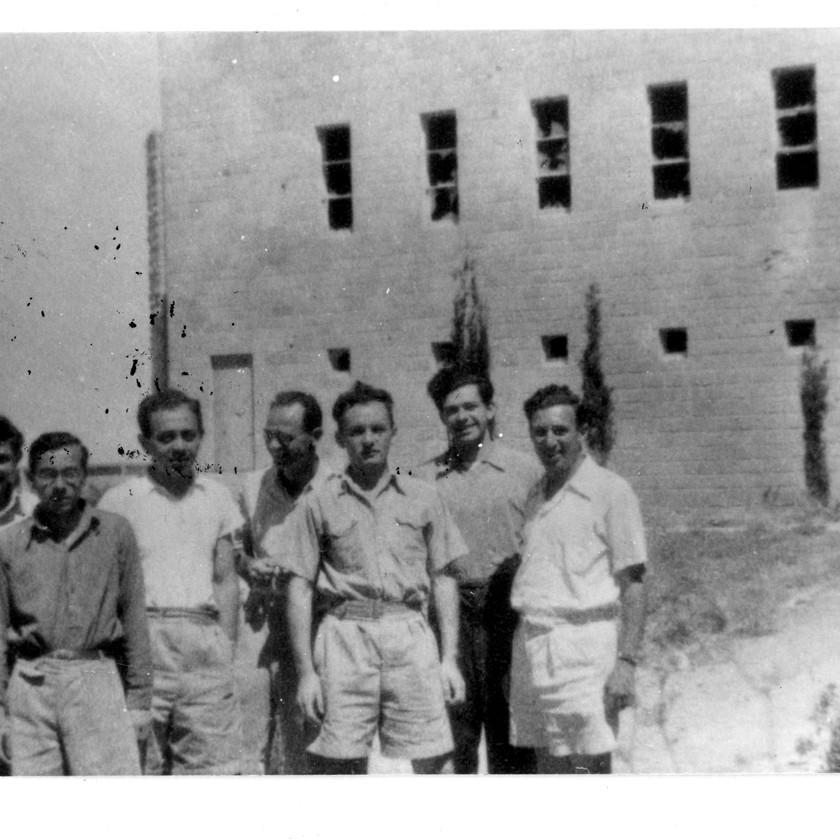 סטודנטים בהר הצופים 1947