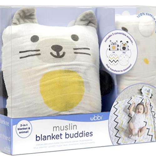 Ubbi Baby Blankie 2-in-1 Convertible Baby Muslin Swaddle Blanket