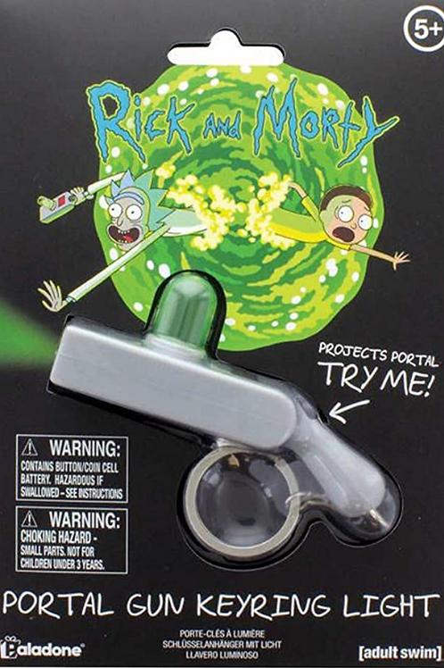 Rick & Morty Gun Keyring Key Chain with Torch