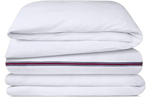 Calvin Klein Home Bedding, James, White, 240 x 220 cm