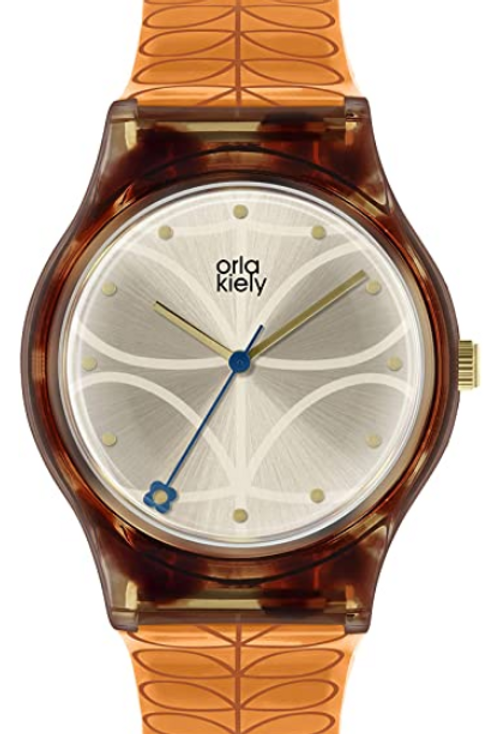 Orla Kiely Womens Analogue Classic Quartz Watch with Plastic Strap