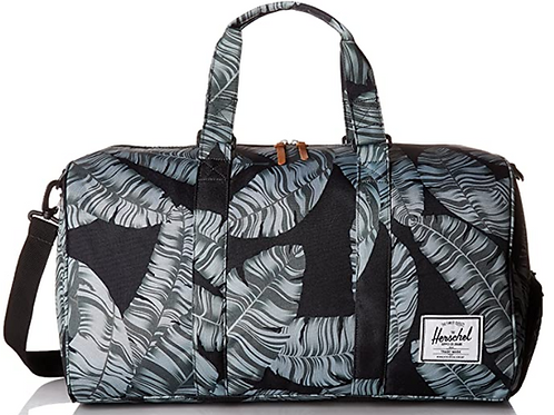 Herschel Novel Duffle Bag, Black Palm, Classic