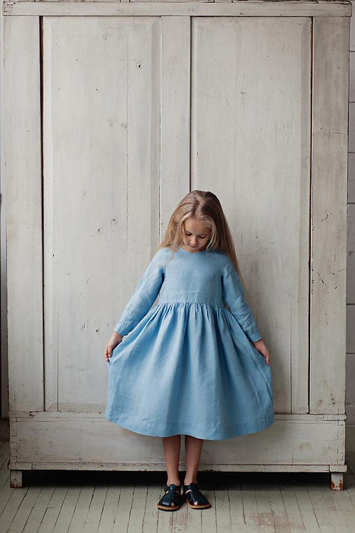 Smock Dress for Girls from Son De Flor, Long sleeves