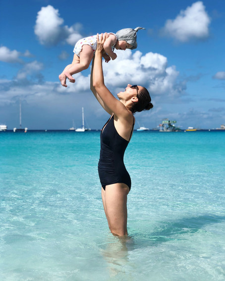 Barbados with an 8 months baby girl