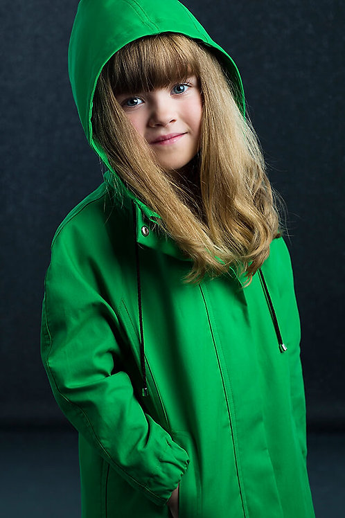 CHILDREN'S GREEN TAIL RAINCOAT from DUCKTAIL RAINCOATS
