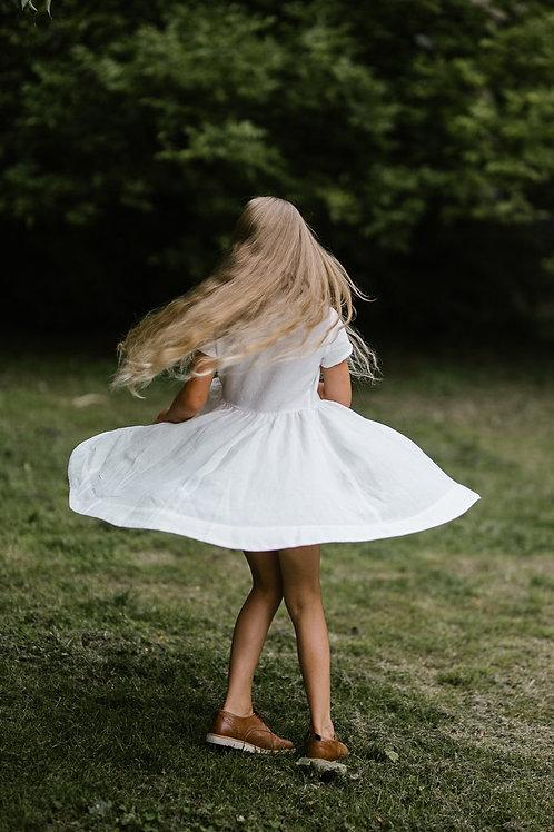 Classic Dress for Girls from Son De Flor, Short sleeves