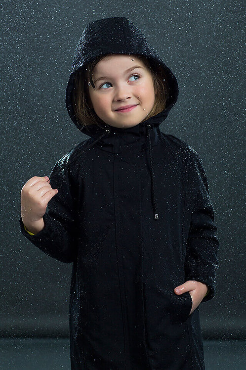 CHILDREN'S BLACK TAIL RAINCOAT from DUCKTAIL RAINCOATS