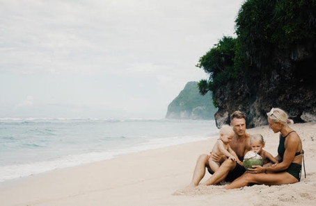 Family living a dream in Bali