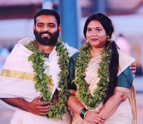 Ashwyn Warrier married Anjana Suresh on 25th Jan 2021