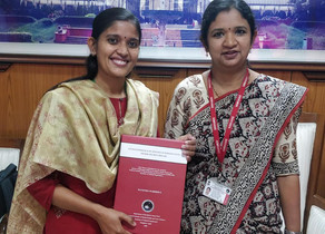 Manjusha Warrier, Manjapra, Palakkad, received her Doctorate