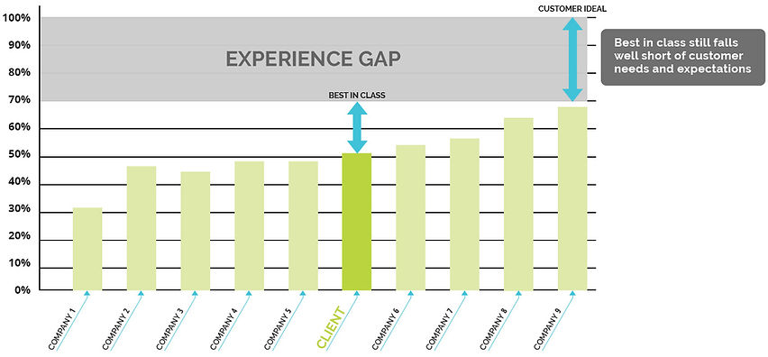 Competitor costumer experience score for client