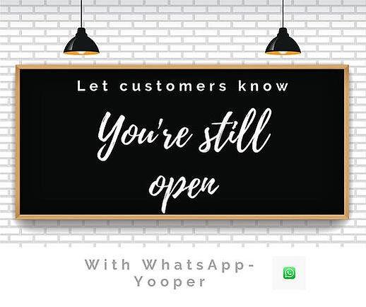 Your Still Open