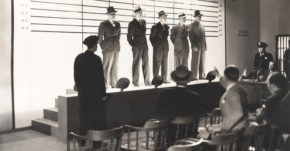 Police line up