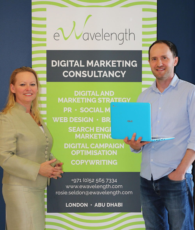 Rosie Seldon, Director of eWavelength & Tristan Mulholland, Digital Marketing Consultant