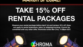It's Here! March 2021 Rental Special