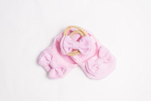 Baby Pink & White Bow Bundle