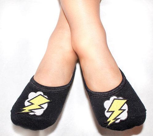 Boys Glow in the dark lightning bolt tiptoes