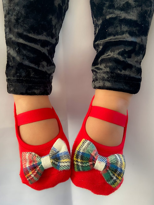 Baby Holiday Bow in red