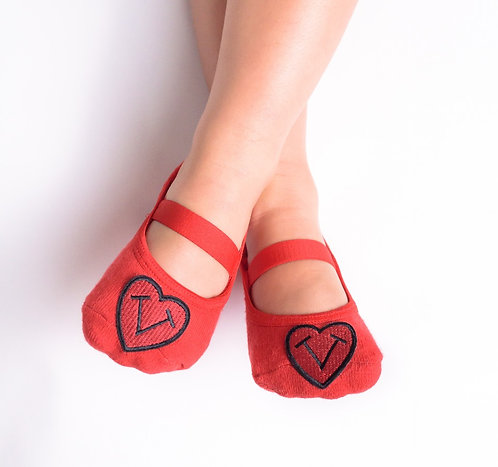 Kids Tiptoes heart logo-Red