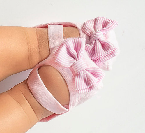 Baby Pink & White Bow