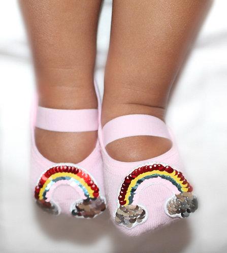Baby flip sequins Rainbow tiptoes