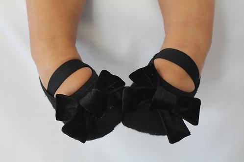 Baby Velvet Bow in Black