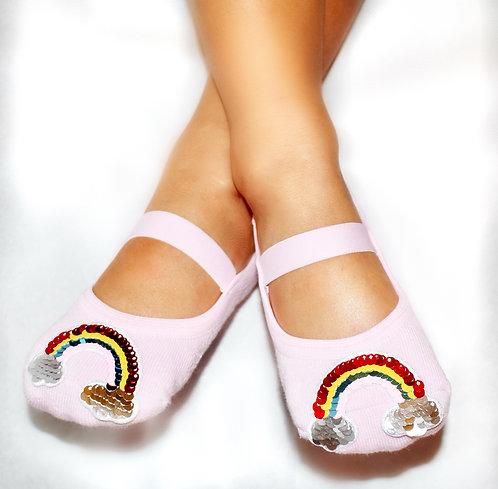 Girls flip sequins Rainbow tiptoes