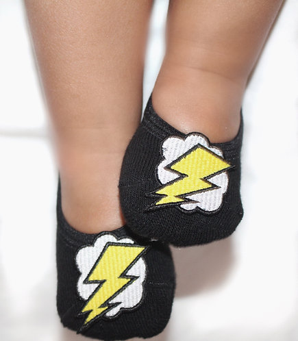 Baby Glow in the dark lightning bolt tiptoes