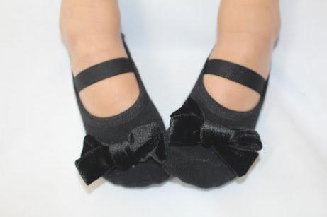Kids Velvet bow in Black