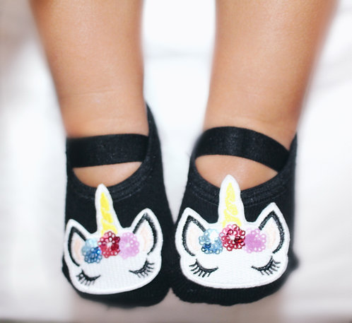 Baby Black Unicorn tiptoes