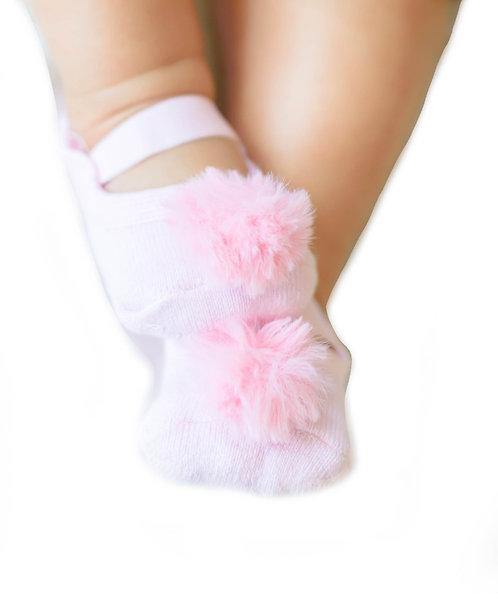 Baby Pink faux fur pompom