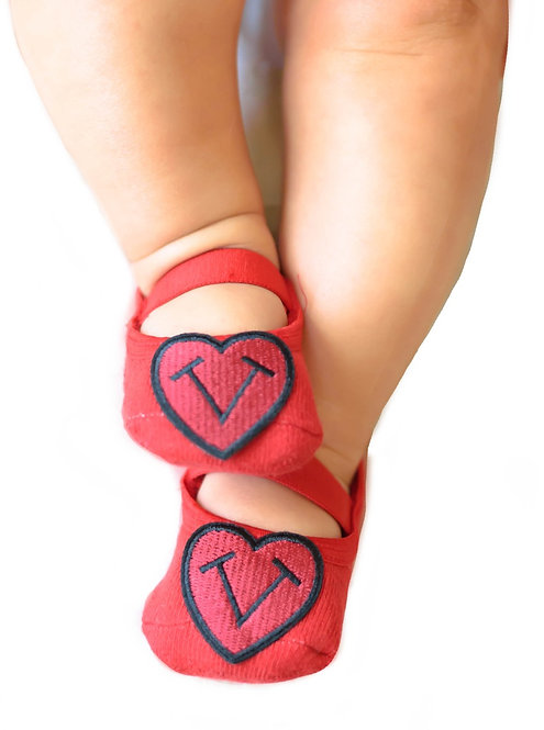 Baby Tiptoes heart logo-Red