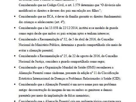 Moção de Apelo pela manutenção da Lei 12.318 de 26/08/2010
