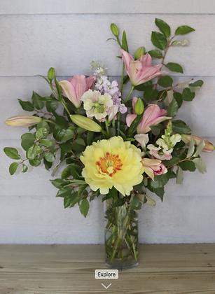 Medium  Bouquet in Glass Cylinder Vase