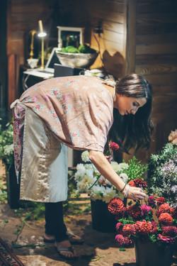Bride Chooses her own blooms