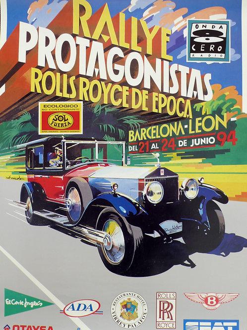 1994 Original Rally Protagonistas Poster