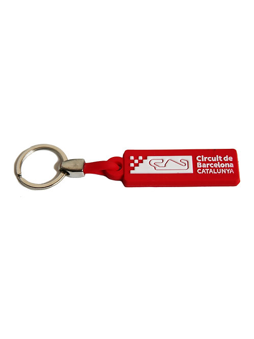 Keyring Corporate PVC Red